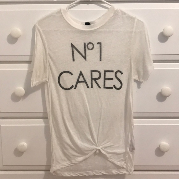 """bd569fd3668 Forever 21 Tops - Chanel """"No 1 cares"""" shirt"""